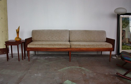 ***ON DECK***Ridiculous Danish Midcentury Modern Solid Rosewood Platform Daybed Sofa (Denmark, 1960s)