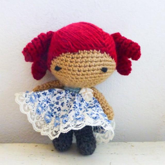 Free crochet pattern doll Cute Amanda-the Little Dolly variation ...   640x640