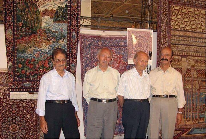 from left Grand master Ali Seirafian, grand master Mohammad Seirafian, late grand master Ahmad Seirafian, and grand master Hassan Seirafian