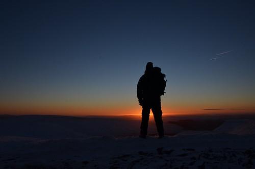 winter portrait mountain snow self sunrise dawn january brecon beacons 2015