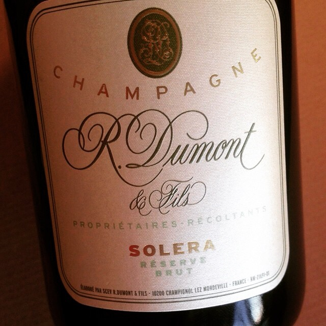 Solera. So good: R. Dumont et Fils Solera Reserve Brut #Champagne Chardonnay #delectableapp