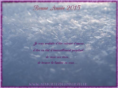 Vœux 2015 de la boutique ésotérique en ligne Aux Portes de l'Universel