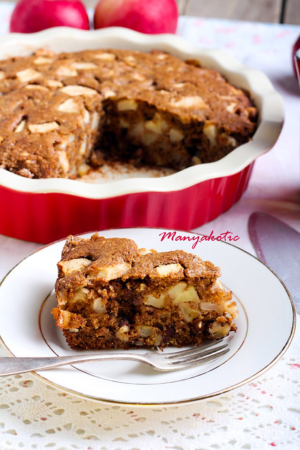 slice of whole wheat apple cake