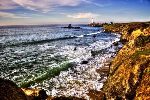 california usa lighthouse beach landscape coast pacific photomatix anthonymaw