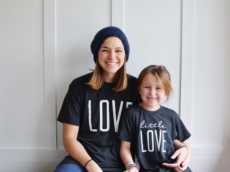 love shirt and little love shirt