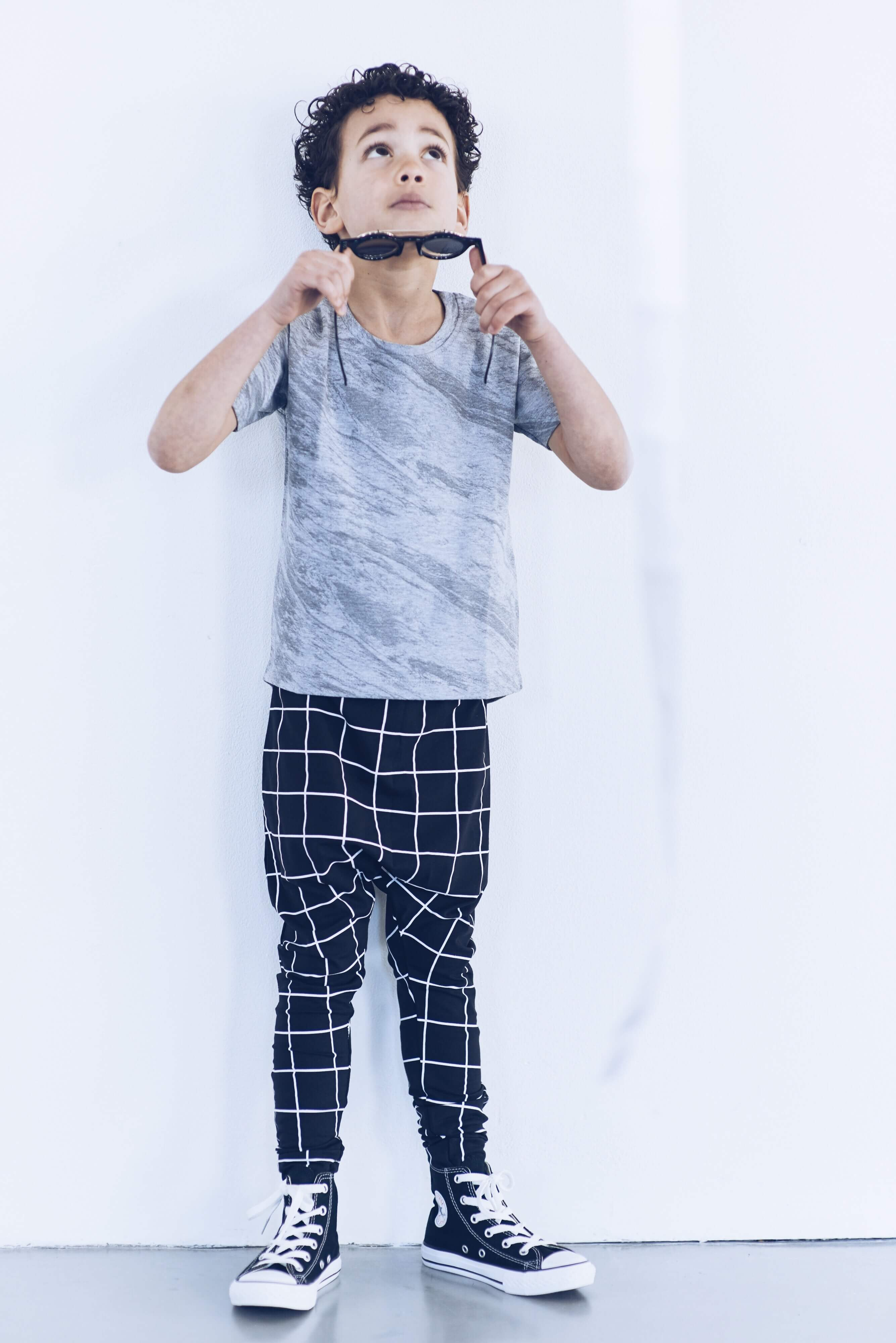 Dudes N Dolls SS16 Grid Harem Pants and Marble Tee