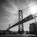 San Francisco street and Bay Bridge by kkarmakar1729