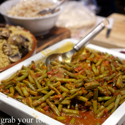 Green beans with tomato sauce at The Black Groodle, Ultimo