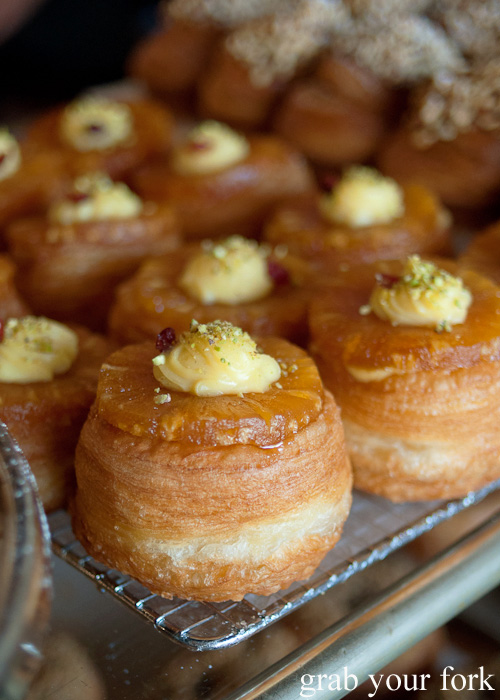 Candied pineapple brewnut cronut at Brewtown Newtown