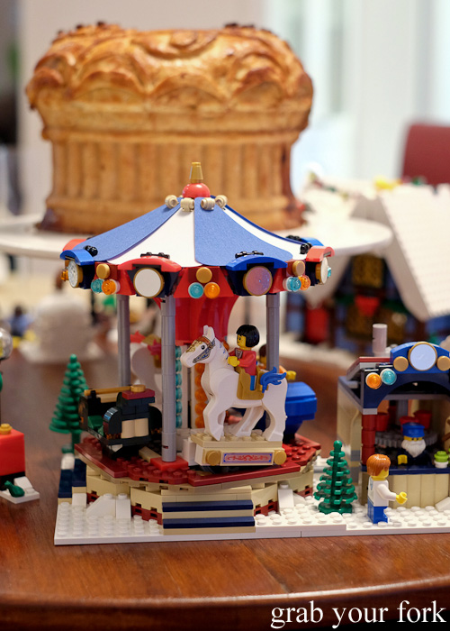 Lego carousel at the Stomachs Eleven Christmas dinner 2014