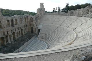 Изображение Herodes Theatre вблизи Афины. theatre athens greece acropolis odeon atticus herodes