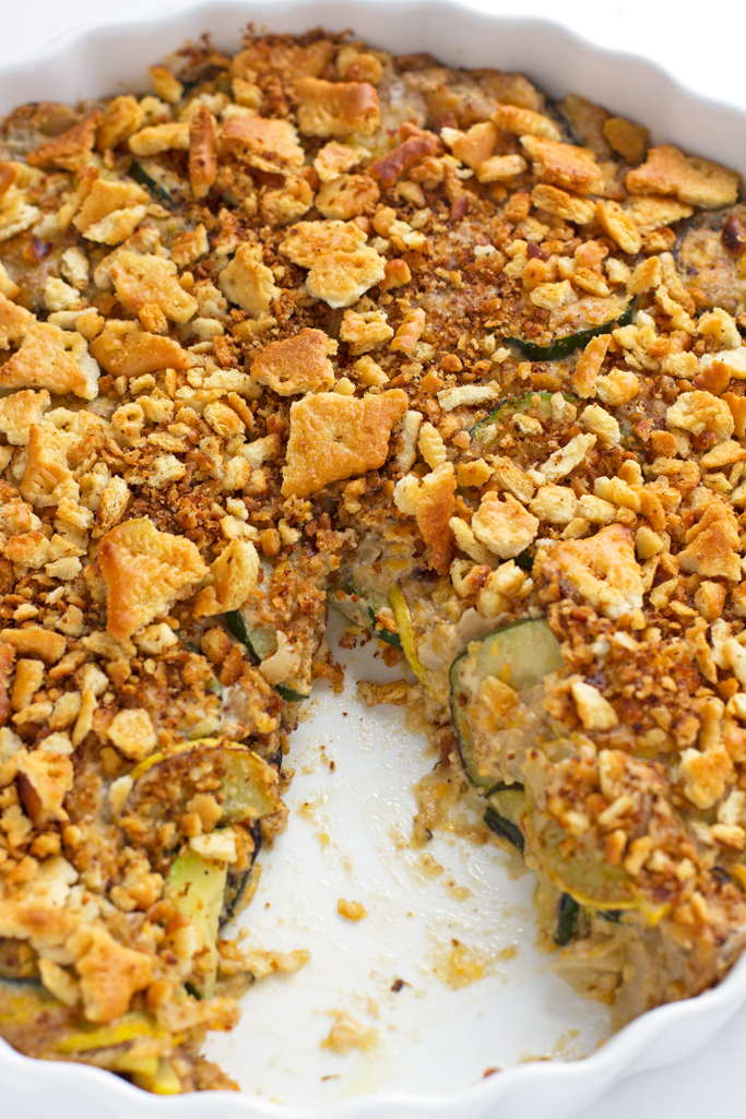 Cheesy Zucchini Yellow Squash Casserole