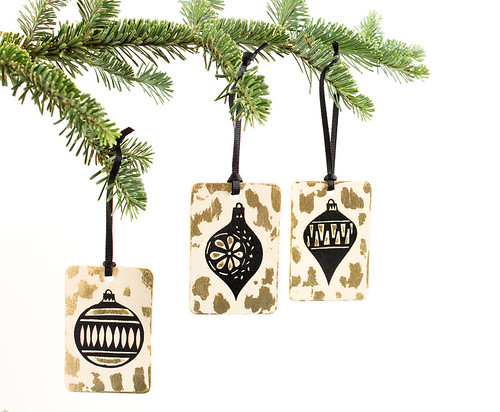 Handmade Wood Ornaments by Vitamini