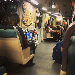On the BART - good to see a bicylcle