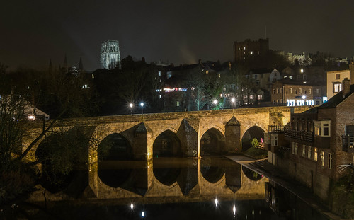 reflection castle night river durham cathedral wear boathouse elvet