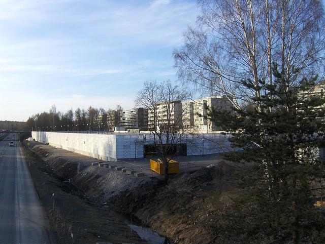 Hämeenlinnan moottoritiekate ja Goodman-kauppakeskus: Työmaatilanne 22.4.2012 - kuva 1