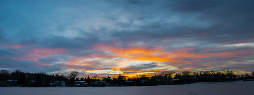 winter sunset sky sun snow newyork cold colors evening unitedstates pittsford