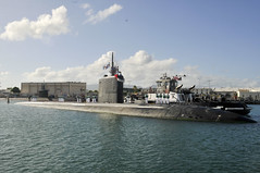 USS Columbia (SSN 771) returns to Joint Base Pearl Harbor-Hickam, Nov. 21. (U.S. Navy/MC1 Jason Swink)