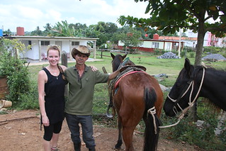Our tour guide and trusty steed.  Vinales, Cuba.