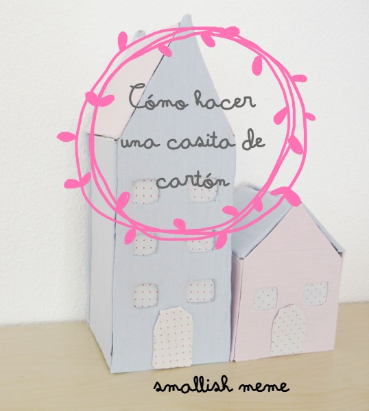 Cómo hacer casitas de cartón