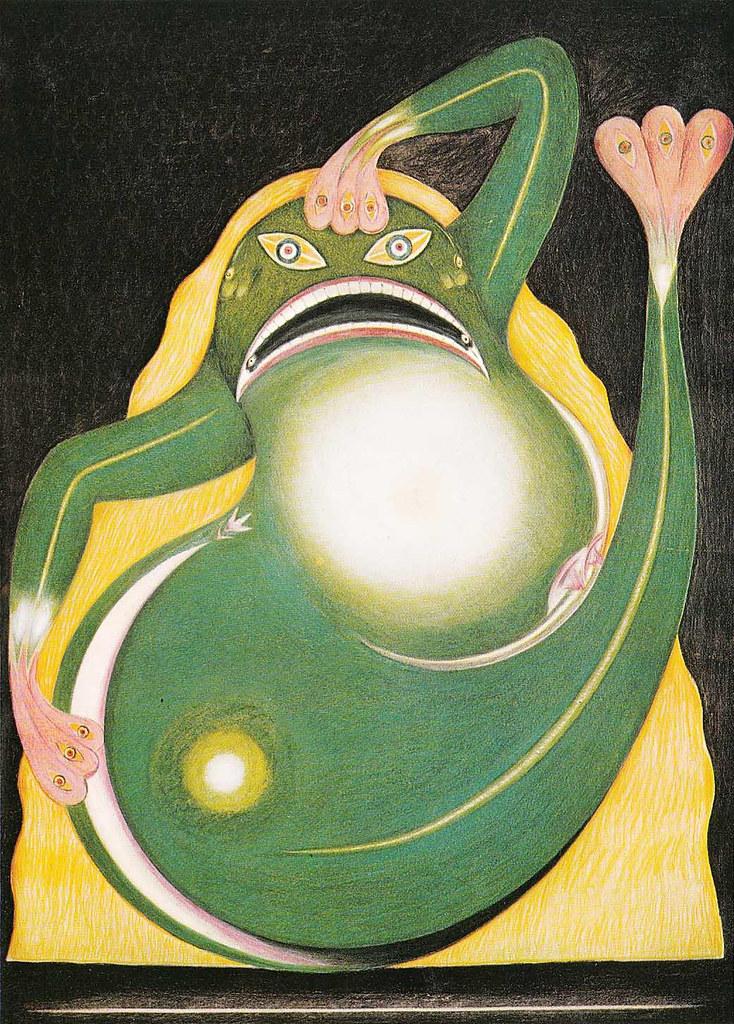 FRIEDRICH SCHRÖDER-SONNENSTERN - The Moon Spirit Frog, 1958