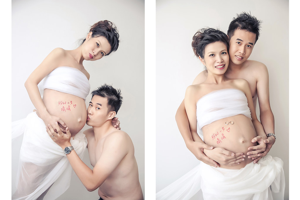 孕婦寫真, ES wedding, 朱志東, 雅妃, 棚內拍攝
