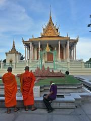 Palacio. Monjes Templo del buda esmeralda