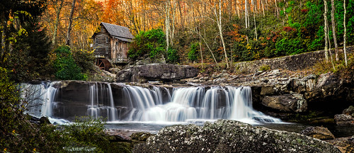 autumn mill water river landscape scenic westvirginia gristmill newrivergorge fayettecounty gladecreek babcockstatepark gladecreekgristmill