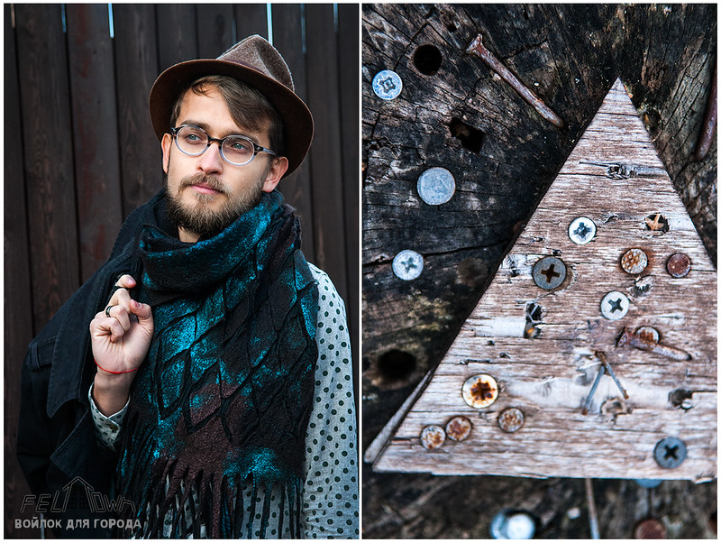 mens scarf by FeltTown