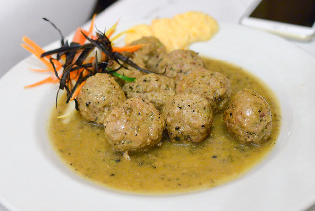 Polpette al Tartufo Nero meatballs with black truffle