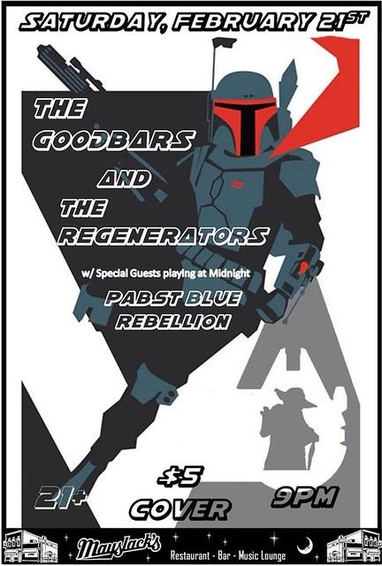 02/21/15 The GooDBarS/ The Regenerators/ Pabst Blue Rebellion @ Mayslack's, Minneapolis, MN
