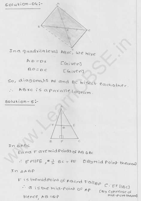 RD Sharma Class 9 Solutions Chapter 14 Quadrilaterals Ex 14.4 4