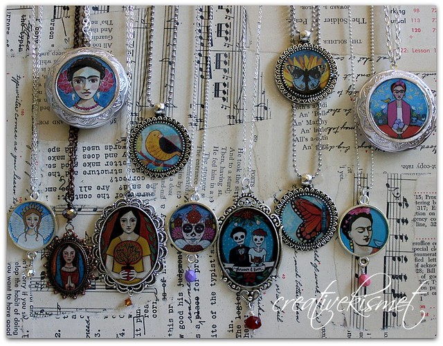 Art Pendant necklaces by Regina Lord