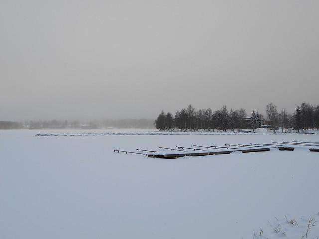 Talvinen Vanajaveden maisema 25.12.2014 Hämeenlinna