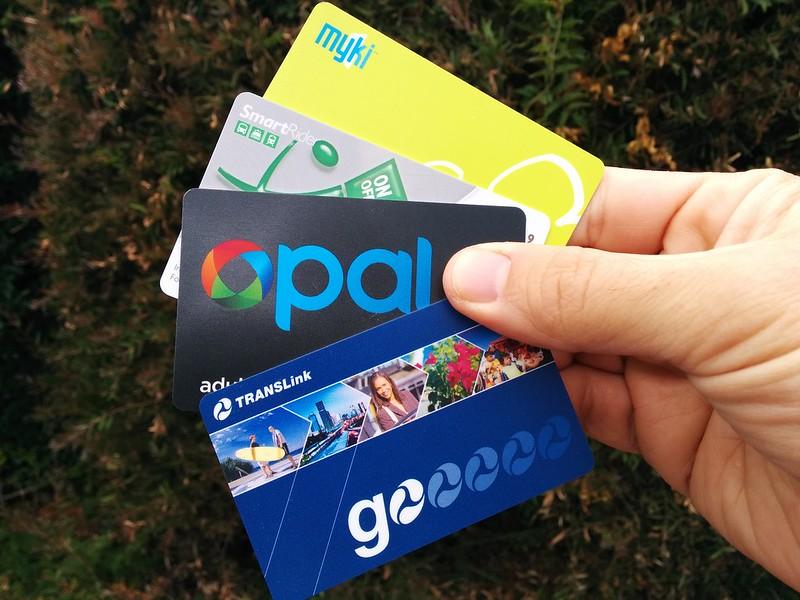 Myki, Smartrider, Go card, Opal public transport smartcards