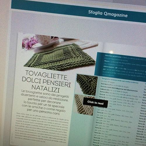 Le mie tovagliette sul QMagazine di QVC:) così felice:) Wow :) so happy :)