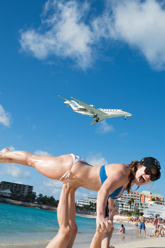 Airplane at Maho Beach
