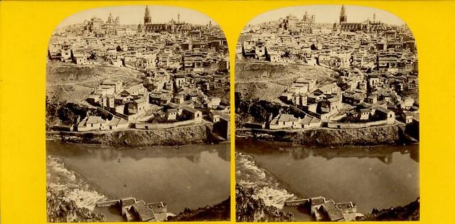Fotografía Estereoscópica de Toledo por E. Lamy. Vista General