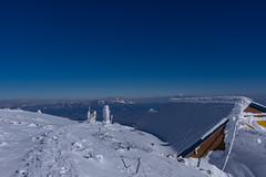 山頂ヒュッテと浅間山