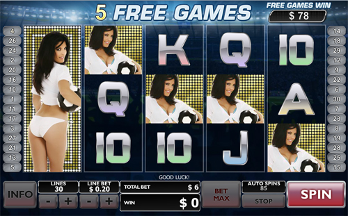 Play Benchwarmer Football Girls online slots at Casino.com