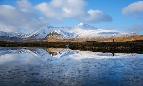 winter ice landscape scotland moor rannochmoor rannoch