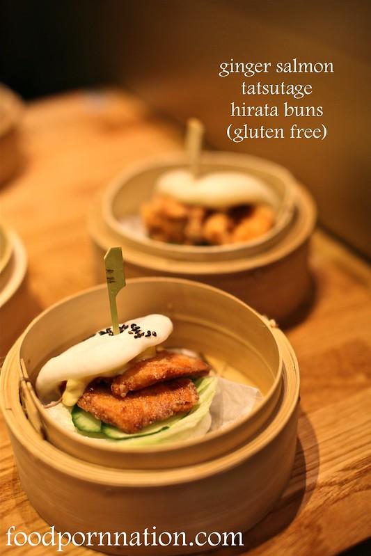 ginger salmon tatsutage hirata buns gluten free