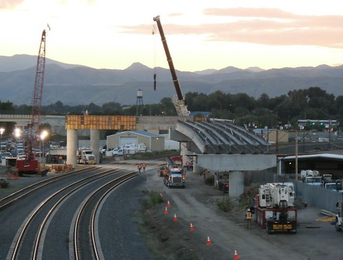 Photo of Moffat Flyover construction