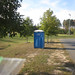 Porta-Jon at Herndon Park, Fall 2014. Provided by TRTC.