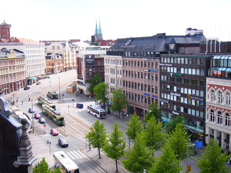 Mannerheimintie from Stockmann Rooftop