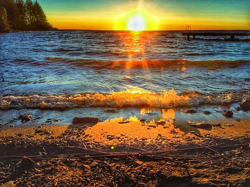 summer finland lake