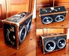 "July 2011 - Leather trimmed Trunk with two 12"" Woofers - #BoomCase #Vintage #Trunk"
