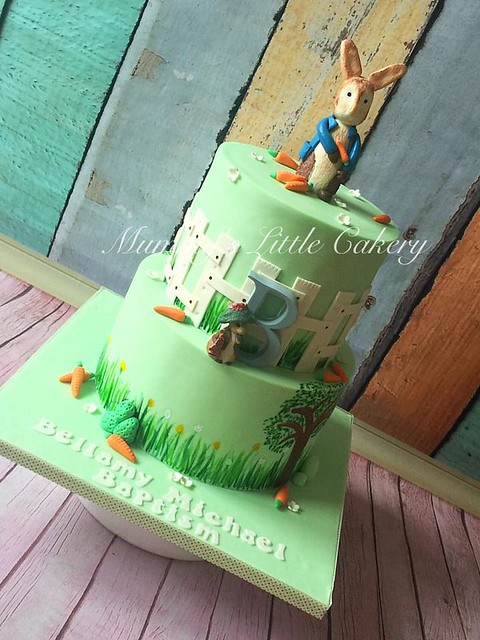 Peter Pan Baptism Cake by Melanie Todd of Mummy's Little Cakery
