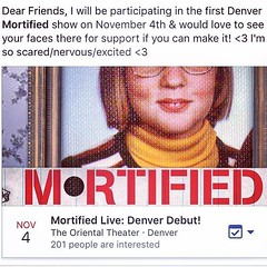 Hi everyone! Just thought I would share... if you would like to see me #mortified on stage in #denver #colorado #mortifiednation @mortifiedshow The link for tickets is here: http://ift.tt/2dW4DKk