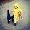 The Man in the Yellow Hat, Curious George, and neighborhood cat Punkin #manintheyellowhat #curiousgeorge